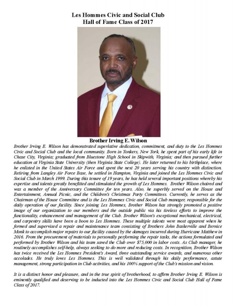 Irving E. Wilson