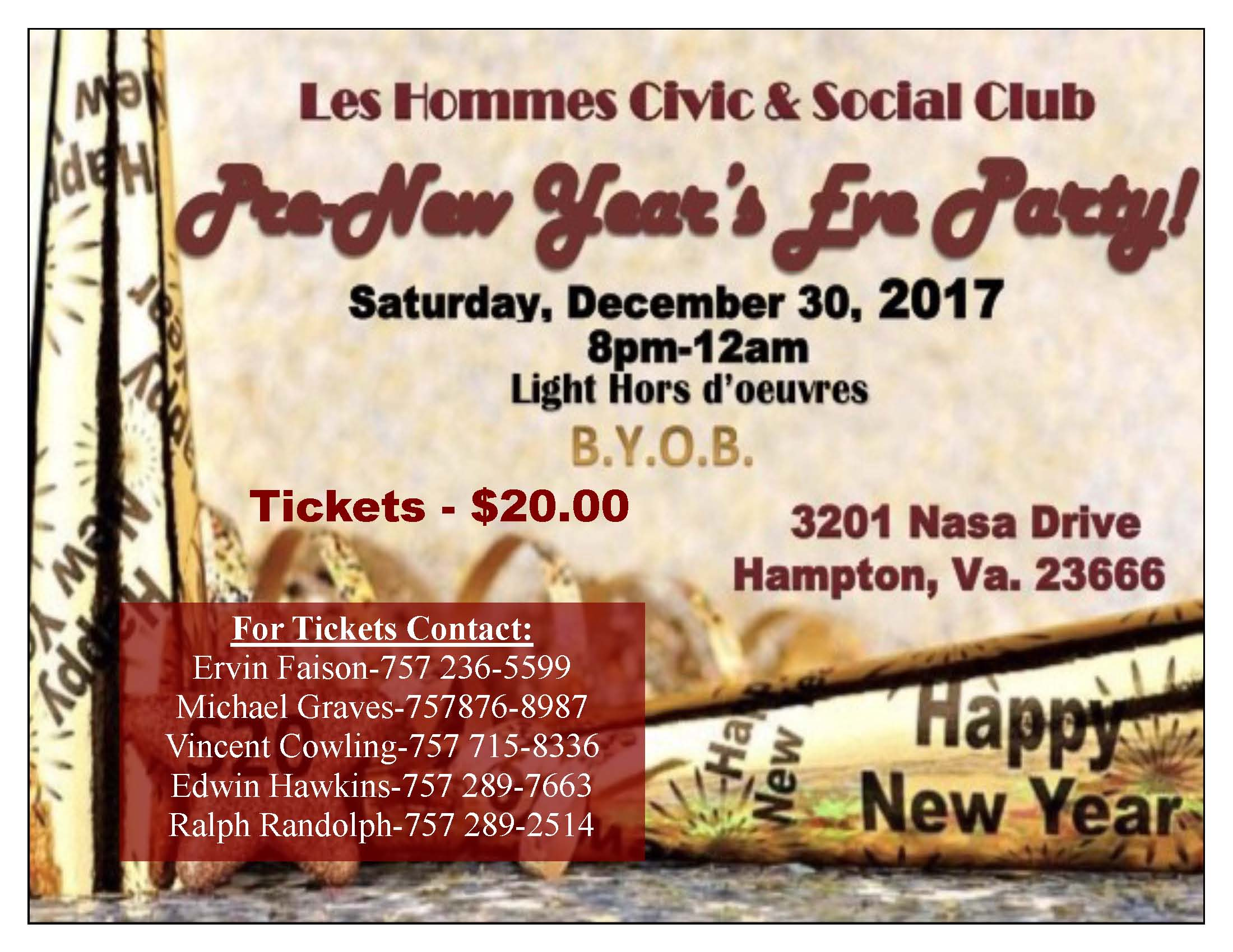 pre new years eve party flier 3 ls les hommes civic social club