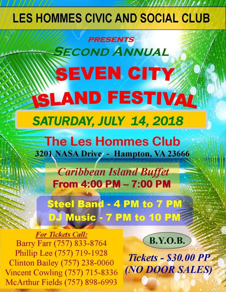 """Seven City Island Festival - July 14, 2018"""